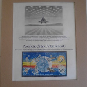 Postal Commemorative Society Space Stamp Page  ECS