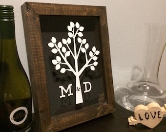 Personalized Shadow Box, Wedding Shadow Box, Custom Shadow Box, Wine Cork Shadow Box, Beer Cap Shadow Box, Handmade Shadow Box