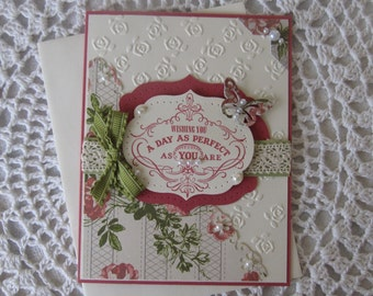 Handmade Greeting Card: Mother's Day/Love/Anniversary/Wedding/Any Occasion