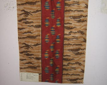 """Lee Jofa """"Tiger Paisley"""" fabric remnant multiple colors"""