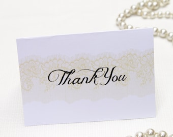 Lace Inspired Thank You Card: DCo Lovenotes