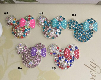 Rhinestone Metal Mouse Retractable ID Badge Reel, Nurse Badge Reel, 5 Colors To Choose From