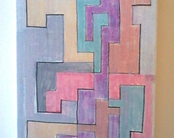 Slime Mold --- Picasso-Quality Perfect Hyper-Cubist Painting