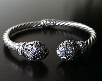 Boho cuff bracelet - ethnic cuff bracelet - gypsy cuff bracelet - rope cuff bracelet - Bali cuff bracelet - bohemian bangle - free shipping