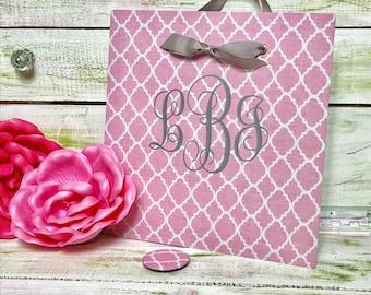 Monogram Magnet Board, Graduation Gift, Dorm Decor, Baby Nursery Monogram,  Dorm Organizer, Fabric Magnet Board, Girl Bedroom Message Board