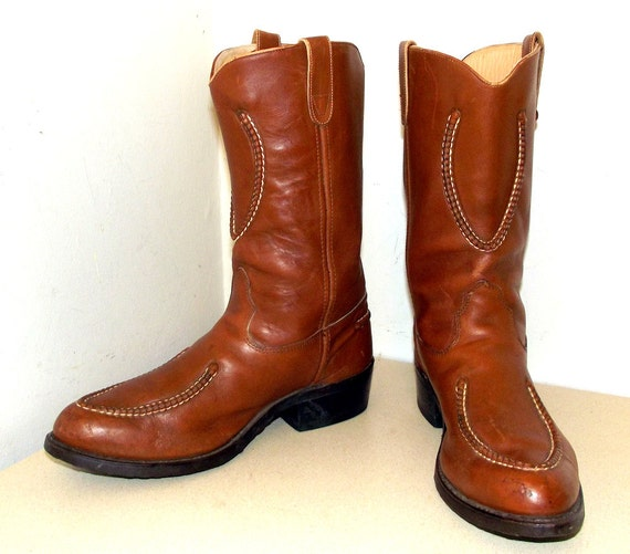 boots Leather Cowboy size H Double D 11 5 Brown Western xRBq71R