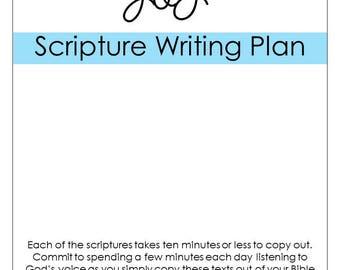 Joy Scripture Writing Long Plan- DIGITAL DOWNLOAD