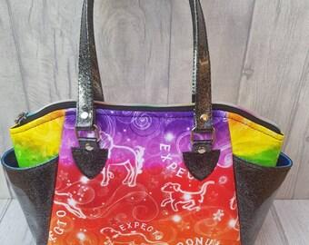 Rainbow Harry Potter inspired Annette handbag