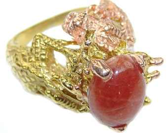 Calcite Sterling Silver Ring - weight 16.90g - Size 8 1 2 - dim L -1, w -1, t -1 2 inch - code 21-mar-16-17