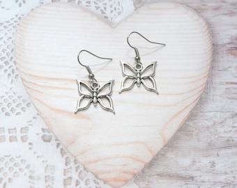 Pair of earrings jewelry dangle Butterfly