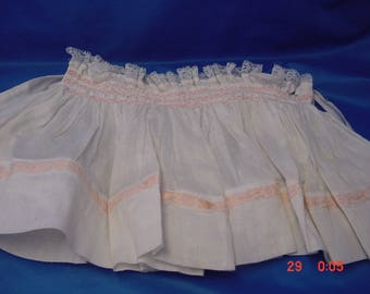 Vintage Large Smocking Skirt for Baby or Large Doll, Very Good Cond