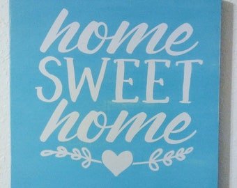Home Sweet Home Painted Wood Sign