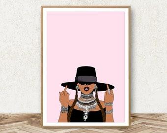 Beyonce Poster - Beyonce Print Art Beyonce Lemonade Feminist Art Feminism Poster I Slay All Day Beyonce Gift Beyonce Decor Beyonce Wall Art