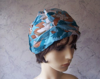 Jacoll Early Authentic Vintage Silky Pre Tied Pleated Bandanna