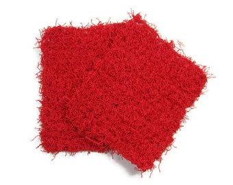 Red Pot Scrubbers Set of 2