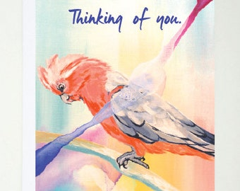 Thinking Of You, Card, Printed, Greeting Card, Abstract, Quote