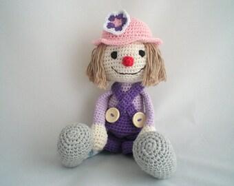 Crochet Clown / Clown Plush Toy / Amigurumi Clown Toy / Plush Clown / Amigurumi Plush Soft Toy / Crochet Plush Toy/ Clown Toy / Plush Toy.