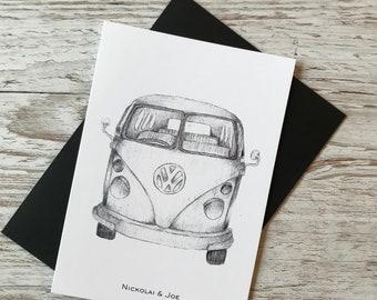 VW campervan Notecard/ Postcard