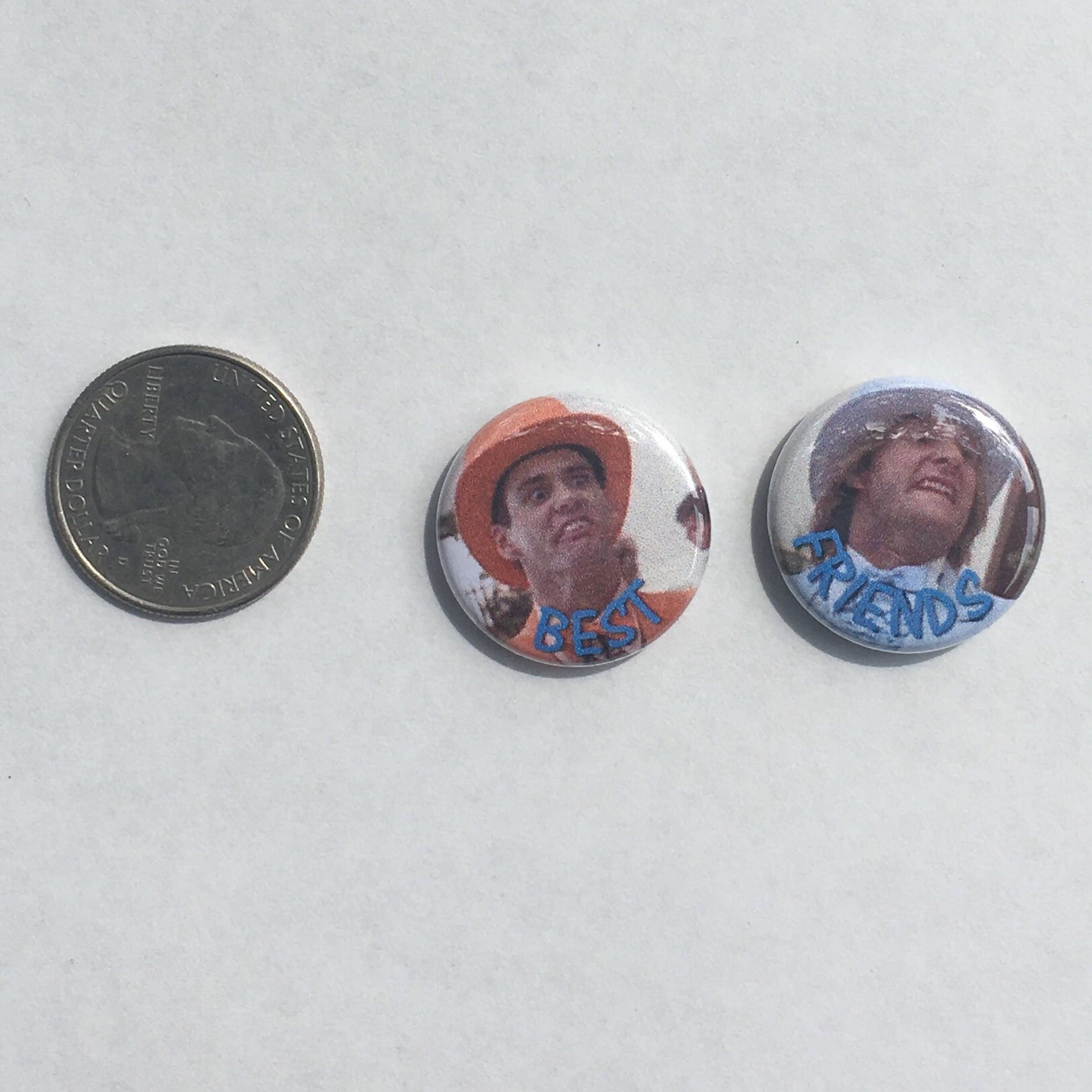 Dumb And Dumber Best Friends 1 Pinback Button Set Of 2
