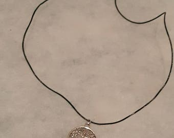 Tree of life, sun and moon necklace