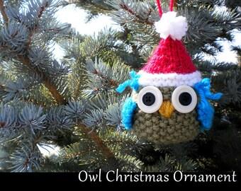 Owl Christmas Ornament Knitting Pattern