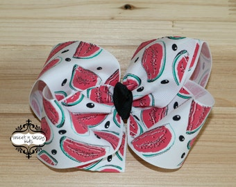STORE CLOSING, Watermelon Seed, Boutique Hair Bow
