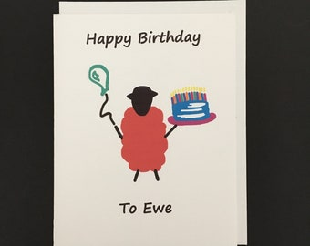 Birthday Card / Happy Birthday to Ewe
