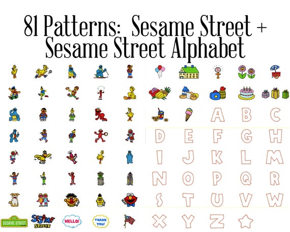 Sesame Street Machine Embroidery Patterns Bert And Ernie Big Bird