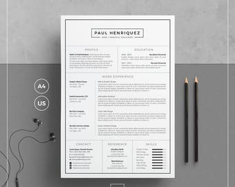 Two page resume etsy modern resume templatecv template cover letter for word two page resume thecheapjerseys Choice Image