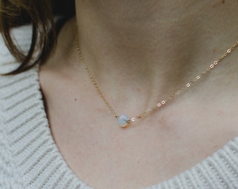 The Ophelia : delicate moonstone gold filled necklace
