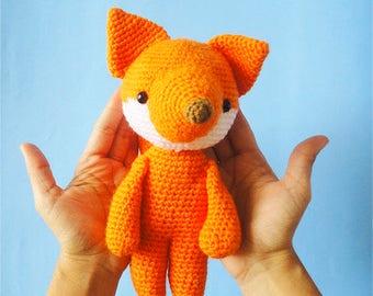 Stuffed fox / Fox amigurumi / Fox Stuffed Animal / Fox Stuffed Animal  / Mini Fox  / Fox Plush / Cute Plush / Stuffed fox /Crochet fox