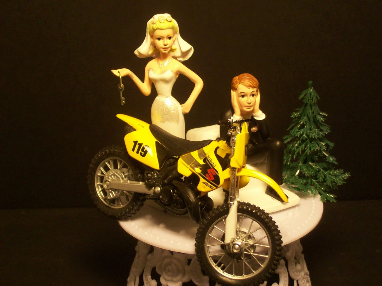 Motorcycle SUZUKI RM Dirt Bike or your Bike Bride and Groom
