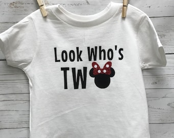 Two Minnie Mouse Shirt, Two Mickey Mouse Shirt, two birthday shirt, Minnie Mouse birthday shirt, Mickey Mouse birthday shirt, toddler shirt,