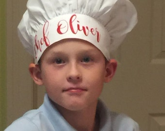 Personalized Chef Hat.  Matching Apron Can be personalized to your needs