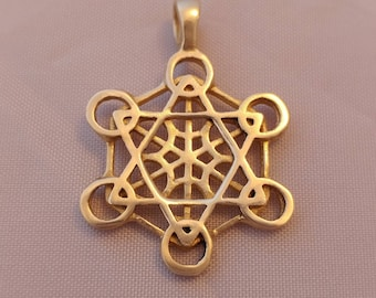 Metatron's cube pendant - metatron's necklace - sacred geometry