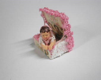 Rustic and shabby toy baby girl