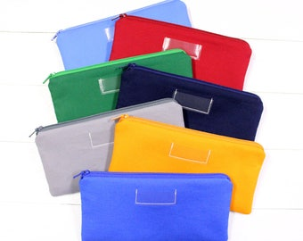 Cash Envelope System - Cash Budget System - Choose Your Color(s) - Cash Budget Envelopes with Zippers - Ready to Ship