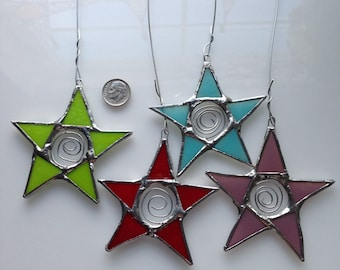 Car Star- 3 inch star with spiral metal center- Perfect for your rear-view mirror
