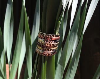 Inspiration Rings... Pretty Metal Tones..
