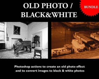 B&W and Old Photo Photoshop Actions Bundle