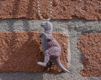 Tyrannosaurus Rex the Jurassic Park Dinosaurus on Ball Chain Necklace