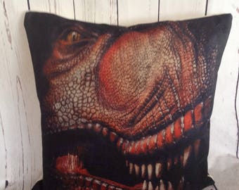Dinosaurs,Duck Feather pillow insert and Cotton Linen Cover, 18×18, Free Shipping..Dino,Dinosauar,kids pillow