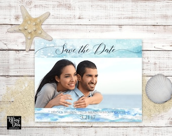Ocean Save the Date Custom Printable