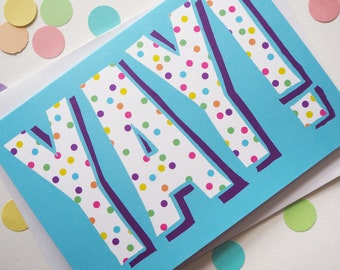 Cute Yay Card, Gender Neutral Baby Card, Baby Congratulations Card, Cute Expecting Card, Well Done Card