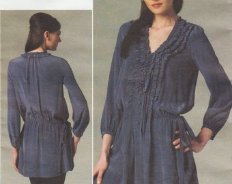 Vogue 1255 / Designer Sewing Pattern By Rebecca Taylor / Ruffled Tunic / Blouse Shirt / Sizes 12 14 16 18 20