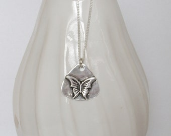 Butterfly Triangle Necklace
