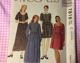 Vintage McCall's 7816, 1995 McCall's Loose Fitting Pullover Dress