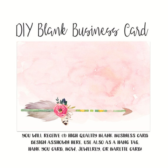 Diy blank business card template girly arrow made to match cheaphphosting Images