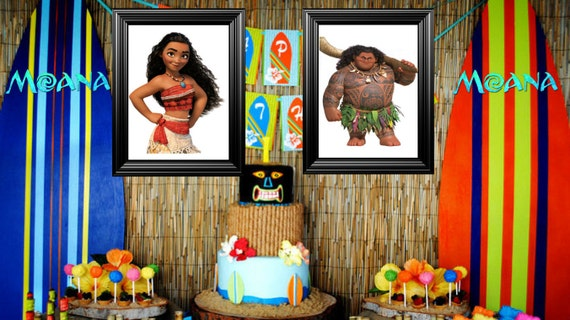 Moana BedroomBirthday party Picture Frames Decor 11x14 frames
