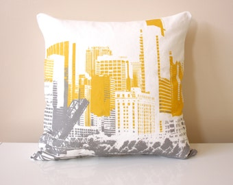 Chicago Pillow / Downtown Chicago / Urban Pillow / Modern Pillow / Abstract Chicago / Sears Tower / City Pillow / Travel Gift / Tourist gift